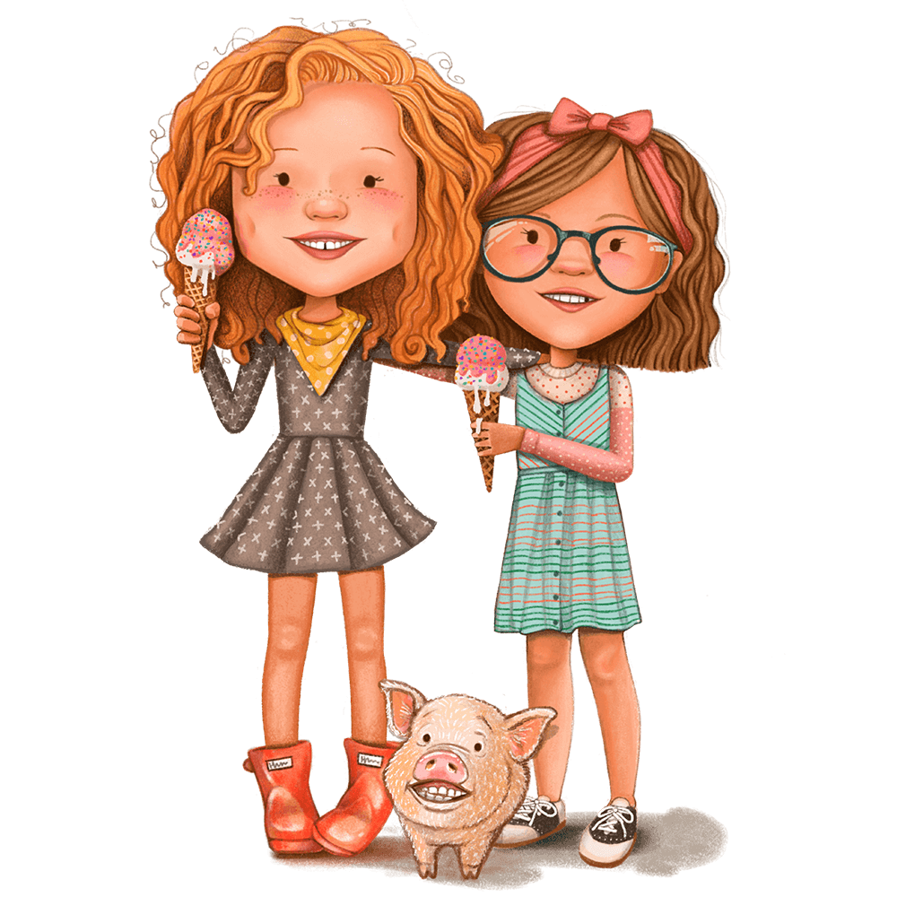 Olive_And_Marie_With_Ice_cream_